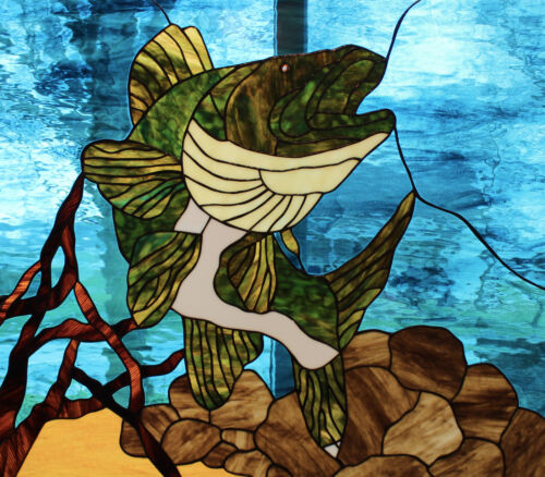 Walleye Stained Glass Window Panel EBSQ Artist