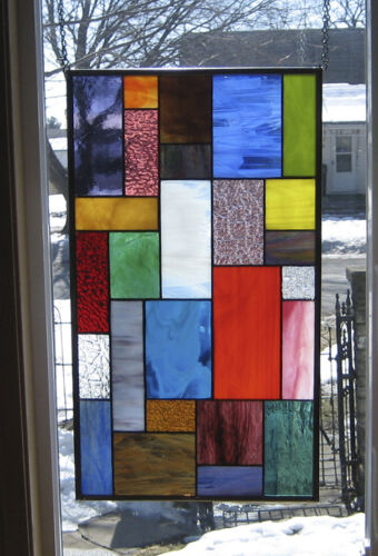 Whimsical Blazes Stained Glass Window Panel EBSQ Artist
