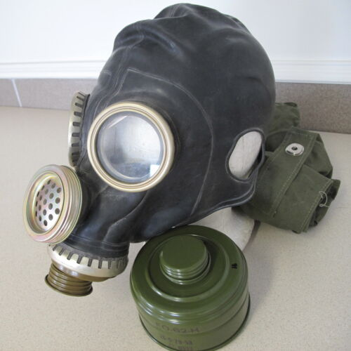 Russian Soviet Rubber Military Gaz Mask sz M original bag filter 1979 Маска ГазMasks - 70985