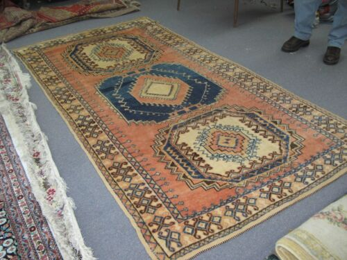 Antique Moroccan Rug Wool on Wool Foundation Hand Knotted 4'-8 x 8'-0