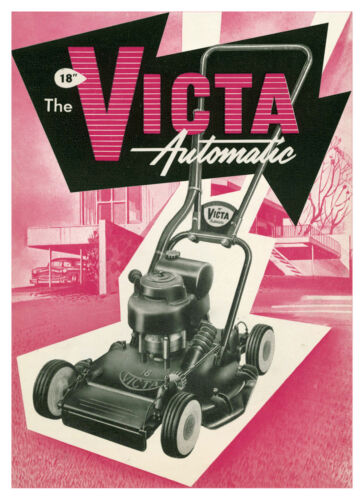 """Victa Automatic 18"""" Lawn Mower Metal Reprod Sign 458"""