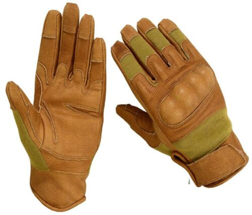 TACTICAL NOMEX FIRE RESISTANT HARD KNUCKLE GLOVES WITH DIGITAL GOAT SKIN LEATHER