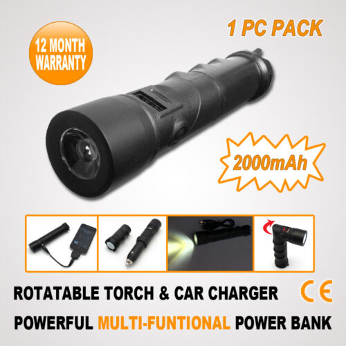 LED TORCH Flashlight External Battery Charger USB Power Bank for Mobile Phone