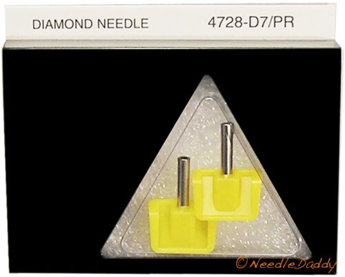 New!  YELLOW JUKEBOX NEEDLES For Seeburg NR 345-03D ONE PAIR!! SEALED