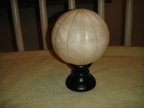 Unusual Spanish Marble Modern Art Sculpture 5.8LB Resembles Sliced Grapefruit