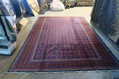 Semi Antique Ersari Turkaman Rug Hand Knotted Wool on Wool 6'2 X 8'9 Very fine