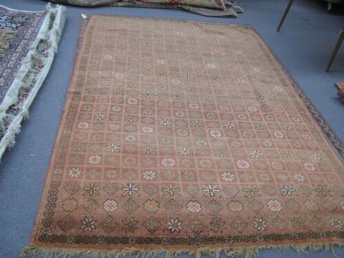 Semi Antique Hand Knotted Moroccan Berber Tribal Wool Rug 7'-7 x 5'-0 African