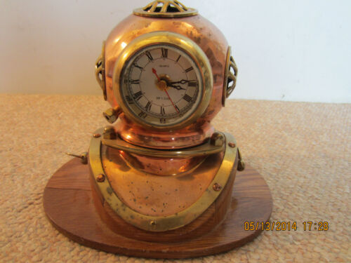 NAUTICAL REPLICA, DEEP SEA DIVER HELMET CLOCK
