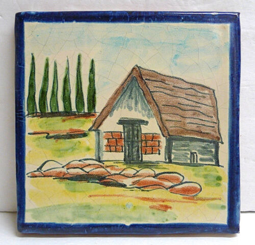 Vintage Scenic Tile from Mexico