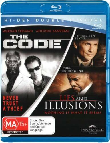 Lies and Illusions / The Code (2 Discs) (Blu-ray Double) NEW Christian Slater