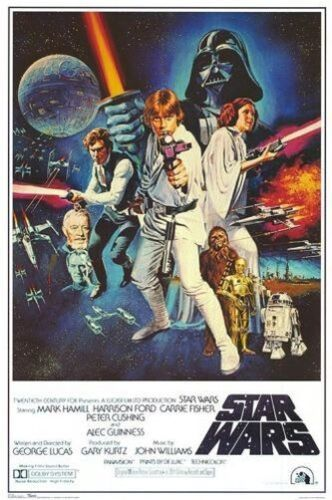 STAR WARS - A NEW HOPE MOVIE POSTER - 24x36 CLASSIC VINTAGE 49001