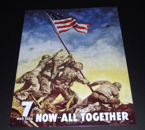IWO JIMA, 7TH WAR LOAN NOW ALL TOGETHER METAL SIGN APO and FPO CUSTOMERS WELCOMEUnited States - 156437