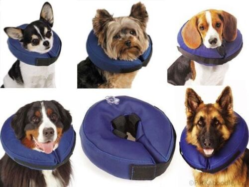 Total Pet Health Dog Cat Soft Inflatable Vet Approved Elizabethan Healing Collar