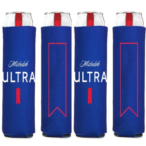 4 Authentic LIVE Michelob Ultra SLIM CAN Beer Koozie Coozie Coolie Cooler Golf