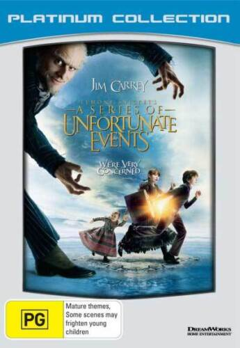 Lemony Snicket's A Series of Unfortunate Events NEW DVD Region 4 AUST Jim Carrey