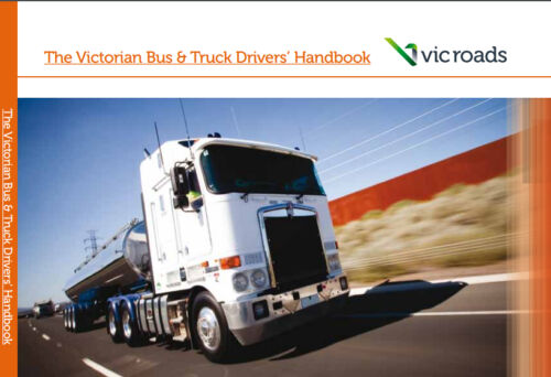 VIC ROADS The Victorian Bus & Truck Driver's Handbook Learner Book - NEW