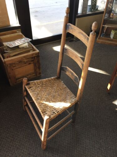 Antique 1770's High Back Early American Chair
