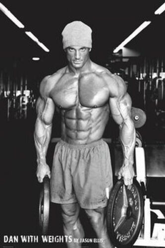 DAN WITH WEIGHTS - JASON ELLIS POSTER 24x36 - BODY BUILDING 36570