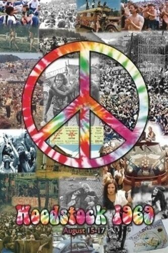 WOODSTOCK COLLAGE POSTER - 24x36 SHRINK WRAPPED - 1969 MUSIC FESTIVAL 36614