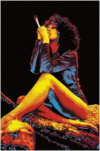 SEXY GIRL WITH JOINT - BLACKLIGHT POSTER - 24X36 SHRINK WRAPPED - POT WEED 2561