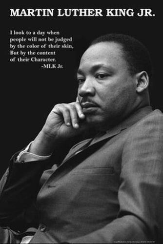 MARTIN LUTHER KING - CHARACTER QUOTE POSTER - 24x36 MLK 0812