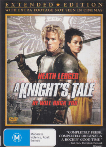 A Knight's Tale (Extended Edition) * NEW DVD * Heath Ledger (Region 4 Australia)