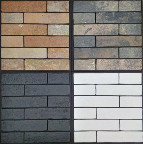 Wall Cladding/Floor Tile Rustic Bricks Porcelain Tiles 250x60x10mm sells per SQM