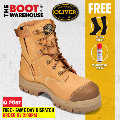 Oliver Work Boots, 45632z, Zip, Lace-Up, Non-Metal, Composite Toe Cap Safety NEW <br/> FREE EXPRESS POST!!    -    FREE EXPRESS POST!!