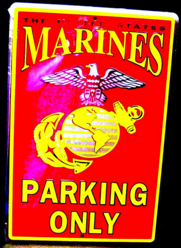 U.S. MARINE PARKING ONLY,  METAL SIGN, APO and FPO CUSTOMERS WELCOME Marine Corps - 66531