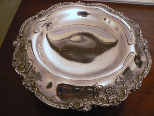 """FRANCIS I BY REED & BARTON OLD CORNUCOPIA  RAISED STERLING SILVER COMPOTE 11"""""""