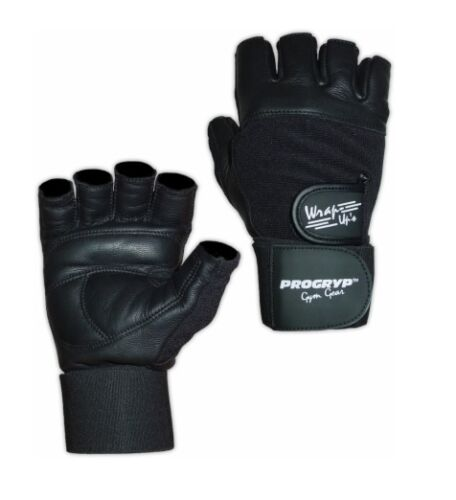 PROGRYP WRAP-UPS Pro-32 Wrist Wrap Weightlifting Gloves BLACK - SIZE XS
