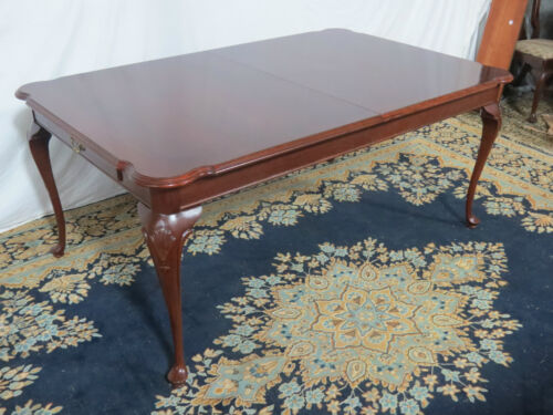 CHERRY ETHAN ALLEN CHIPPENDALE DINING ROOM TABLE SET CHERRY
