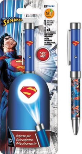 SUPERMAN - PROJECTOR INK PEN - BRAND NEW - DC COMICS 4004
