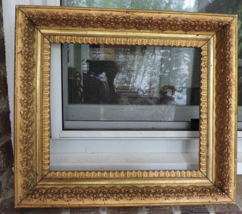Aesthetic VICTORIAN Gilt GOLD Flower DAISY Floral Picture Frame 10 x 12 1890s