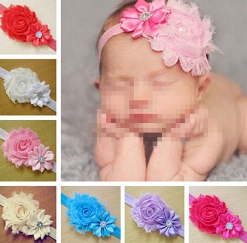 Kid Baby Girl lace Flower Headband Infant Toddler Hair Bow Band Accessories hs
