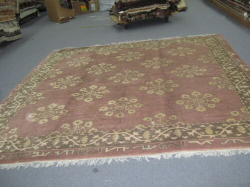 Antique khotan Samarkand Hand Knotted Wool 8'-9 x 9'-0 Square decorative rug