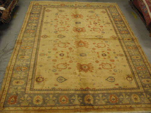 Semi Antique Turkish Rug 6'-7 x 8'-7 Wool Hand Knotted
