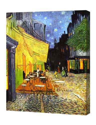 DecorArts Cafe Terrace At Night by VanGogh Giclee Print On Canvas GalleryWrapped