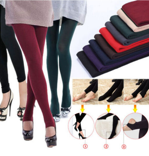 2015 New Warm Winter Skinny Slim Leggings Stretch Pants Thick Footless Legging