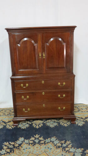 Stickley Armoire Wardrobe Chest Cherry Set