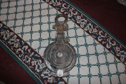 Antique Nautical Ship Block Pulley-8 Inch Sheave-SWL 3 Ton-Nautical Decor-37LBS
