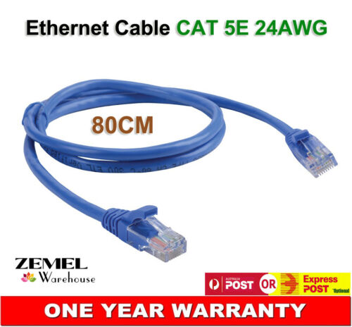 2X RJ45 Ethernet Network Cable Internet Straight Patch Cord for Computer Router