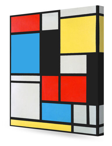 DecorArts AterPiet Mondrian Composition in blue red yellow Lithograph in colours
