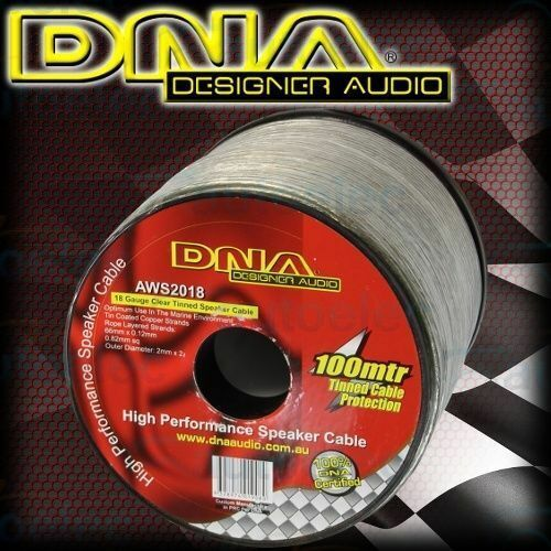 DNA 18 Awg Speaker Cable Wire 100M Metre Metre Cord Roll Marine Tinned AWS2018