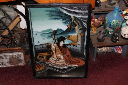 Reverse Painting On Glass Antiques Us