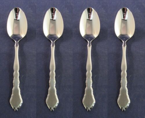 """2 Two Salem 1776 Oval Soup Spoons 7 1//4/"""" EXC Satin Stainless Silverware"""