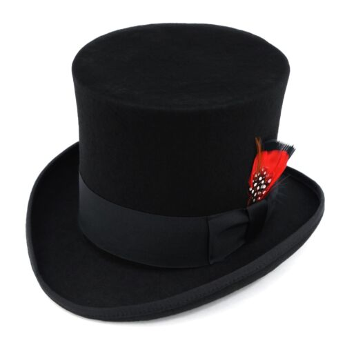 Top Hat 100% Wool - Luxury Mad Hatter Steampunk Victorian Cosplay - MANY COLORS