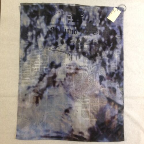 John Galliano sciarpa tie and dye, tie and dye scarf