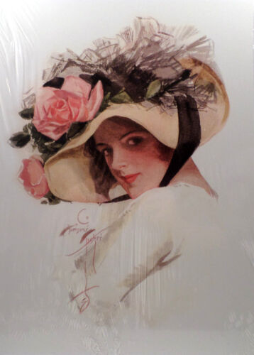 """Victorian Lithograph Print Harrison Fisher """"June"""" New"""