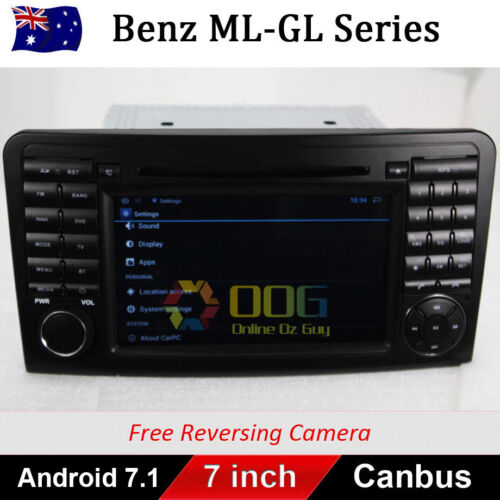 "7"" Android 9.0 Car DVD GPS Navigation for Mercedes Benz ML GL Class ML320 ML350"